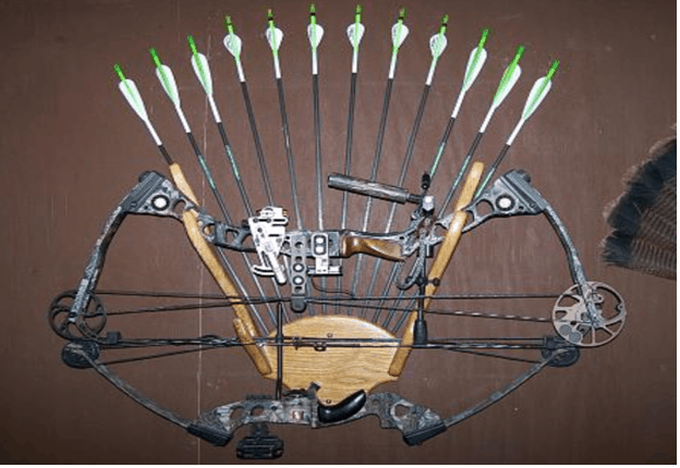 bow and arrow hanger