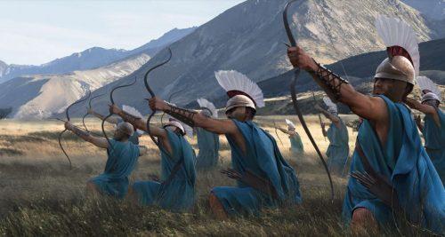 Greek archers in the field