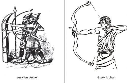 vulnerable Greek archer