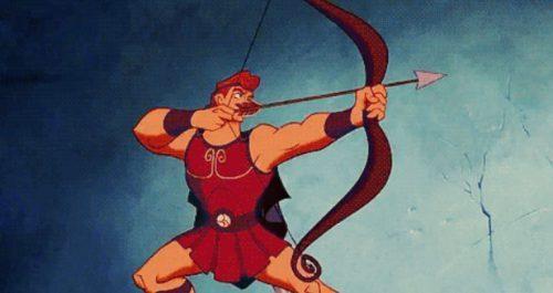 Greek warrior Hercules