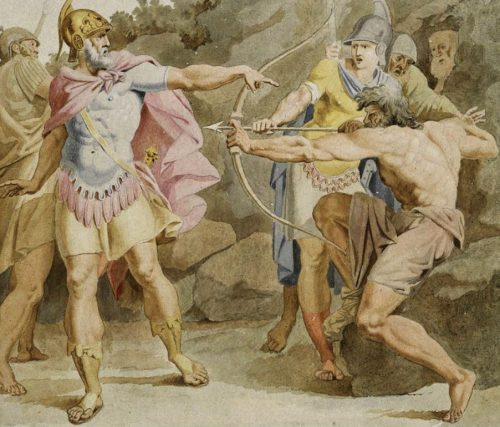 Archer Philoctetes painting