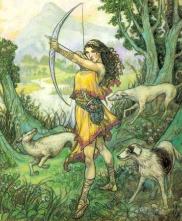 mythological famous archer artemis