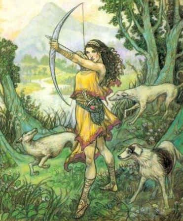 mythological famous archer artemis