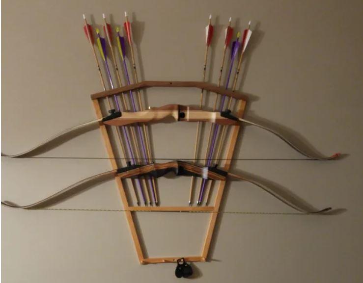 proper bow hanger for wall