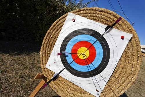 shoting toward bullseye