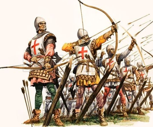 historical English Longbowmen