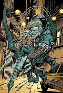 famous fiction archer green arrow with his bow