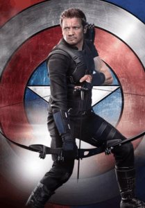 famous fiction archer hawkeye with his bow