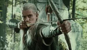 famous fiction archer legolas with his bow