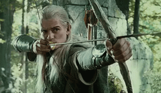 famous fiction archer legolas with his bow