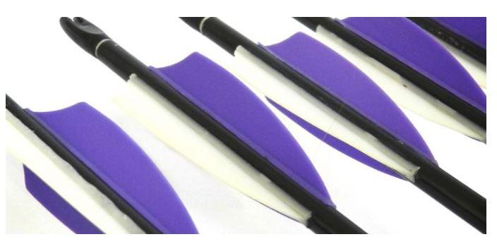 plastic arrow vanes