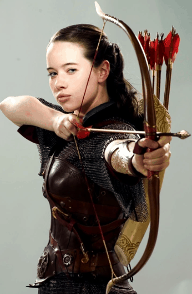 fiction archer Susan Pevensie with her bow