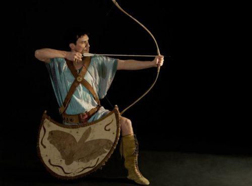 greek archer shots an arrow